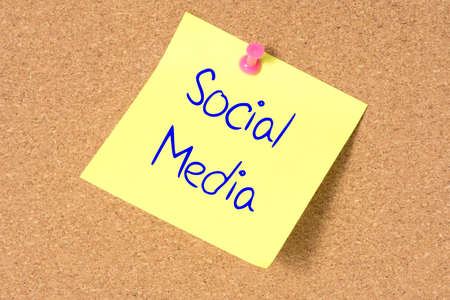 A pin board and message for social networks