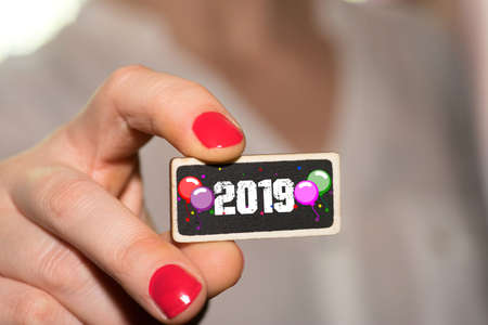 A woman and New Year's Eve 2019
