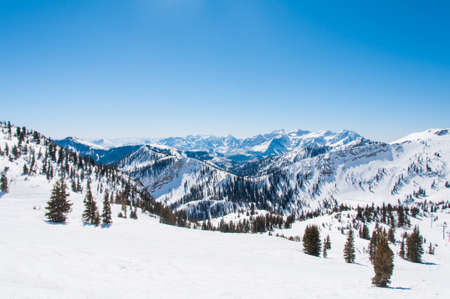 Mountain Ridges Behind Snowbird and Alta