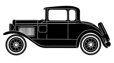 Ilustración de retro car on white background - Imagen libre de derechos