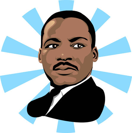 Vector for Martin Luther King Day or Black history month.