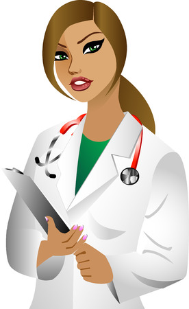 white woman doctor. See others in this series.