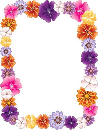 Illustration pour illustration of a Flower border. - image libre de droit