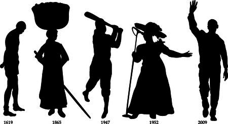 Illustration pour Vector Illustration timeline for Black History month. - image libre de droit