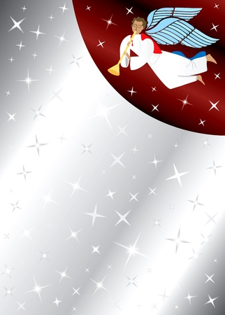 Vector Illustration of Angel Background with stars. There is space for text or image.