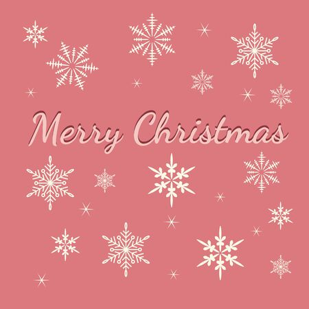 Illustration pour Vector Christmas Background with snowflakes. Christmas and new year card template. - image libre de droit
