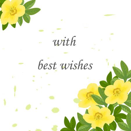 Wedding Invitation Birthday Floral Design Card Green Leaves