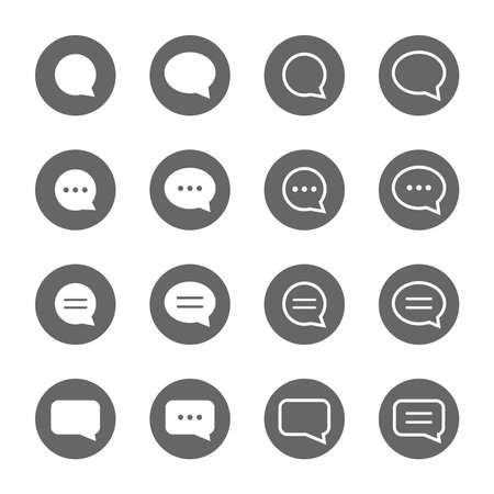 basic speech bubble shape icons set,vector Illustration EPS10