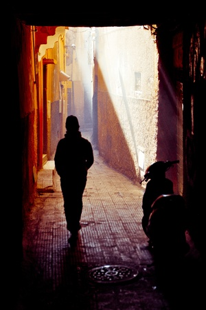 Streets of Marrakesh in Morocco