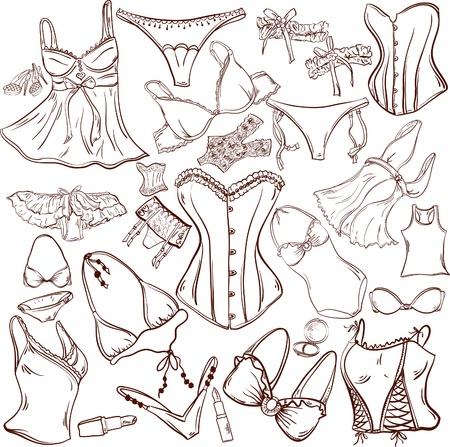 lingerie - woman underwear for fashion design