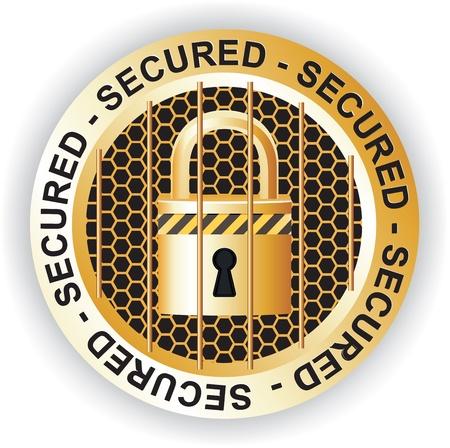 Secured Sign Gold