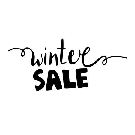 Winter sale hand written inscription
