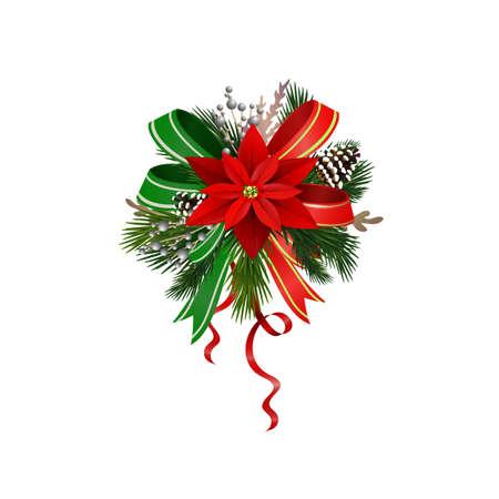 Illustration pour Christmas festive decoration from christmas tree branches vector - image libre de droit