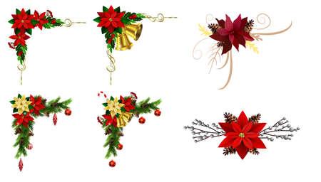 Photo pour Christmas elements for your designs - image libre de droit