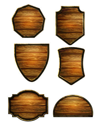 Illustration for Vector realistic illustration of wooden signboard - Royalty Free Image