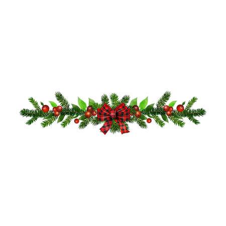 Illustration pour Christmas Holly brunches decoration vector - image libre de droit