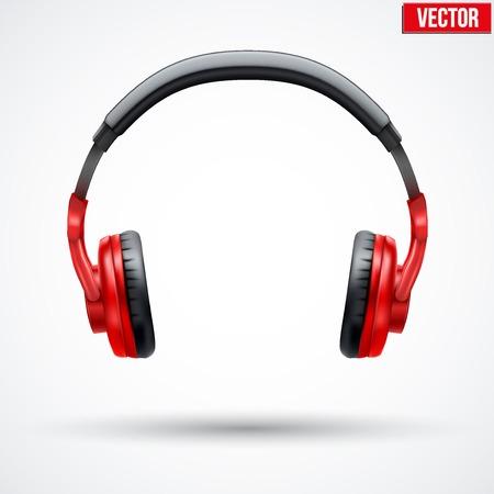 Illustration pour Realistic black Headphones. Vector Illustration Isolated on White Background - image libre de droit