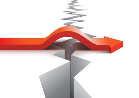 Illustration pour Risk and success concept - image libre de droit