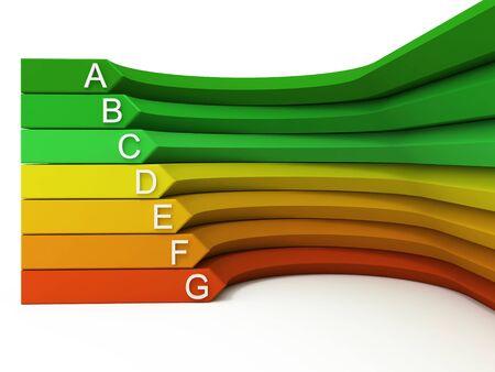 Energy efficiency 3d concept