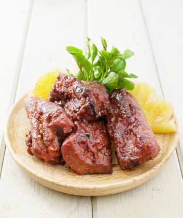 honey pork ribs grilled