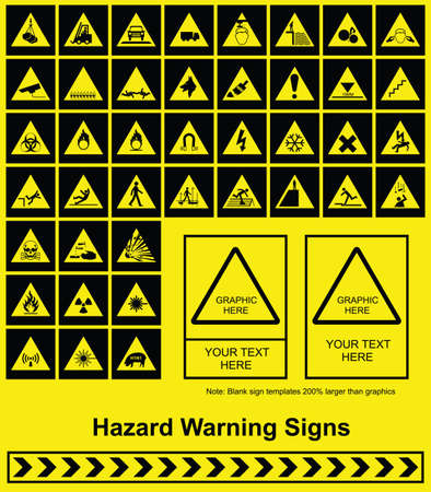 Make your own Hazard Warning sign graphics individually layered