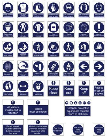 Mandatory Signage icon Collection