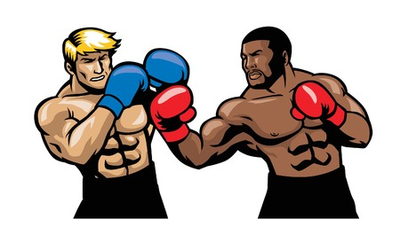 Illustration of a boxing fight