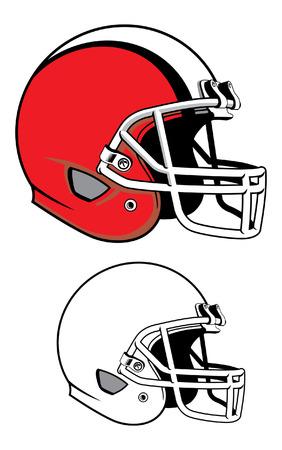 Ilustración de Football helmet illustration. - Imagen libre de derechos