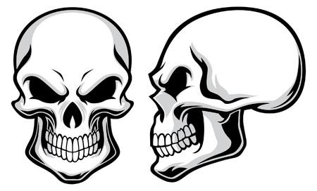 Ilustración de set of skull - Imagen libre de derechos