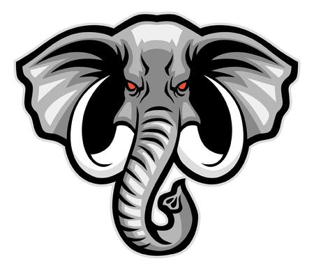 Ilustración de elephant head mascot - Imagen libre de derechos