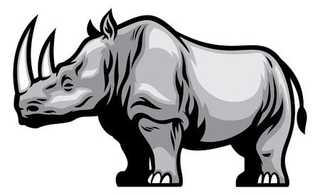 Ilustración de African rhino - Imagen libre de derechos