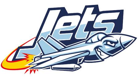 jet plane mascot