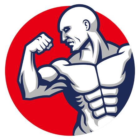 bodybuilding mascot