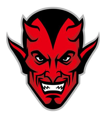 Illustration for devil head mascot - Royalty Free Image