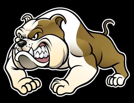 Illustration pour angry cartoon pitbull - image libre de droit