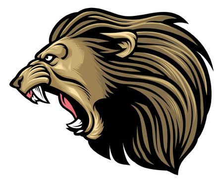 Illustration pour angry lion mascot - image libre de droit