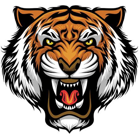 Ilustración de tiger head mascot - Imagen libre de derechos