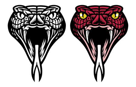 Illustration pour set of snake head logo - image libre de droit