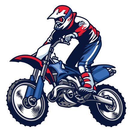 Illustration pour jumping motocross race - image libre de droit