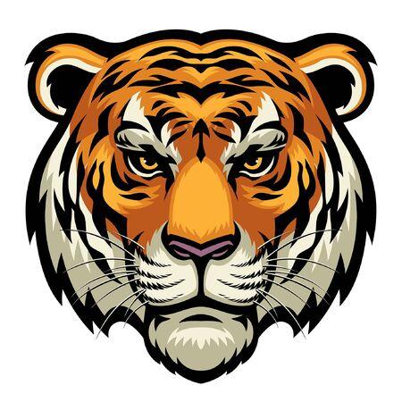 Ilustración de head of tiger mascot - Imagen libre de derechos