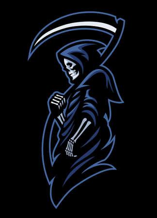 Illustration pour vector of mascot of dead grim reaper - image libre de droit