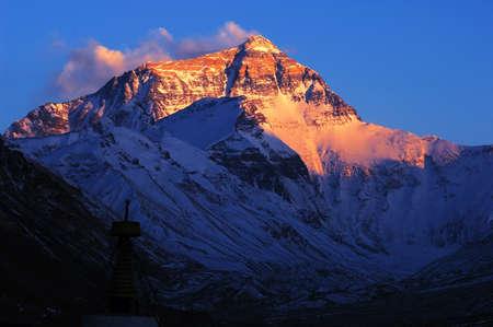 Mount Everest at sunset