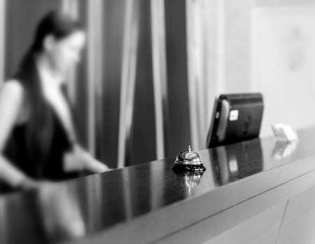 Photo pour The service bell in a hotel - image libre de droit