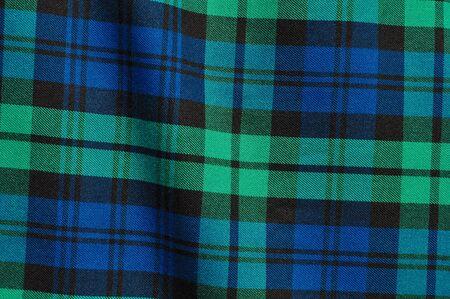 Scottish Green Blue Plaid Background