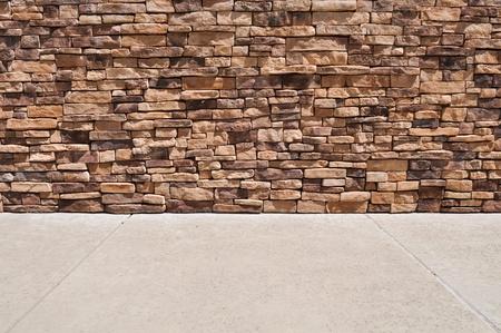 New Brick Wall Sidewalk