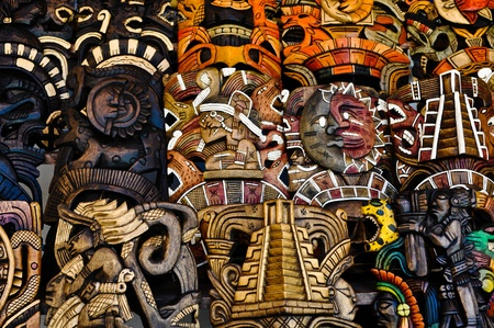 Mayan Wooden Masks for Sale