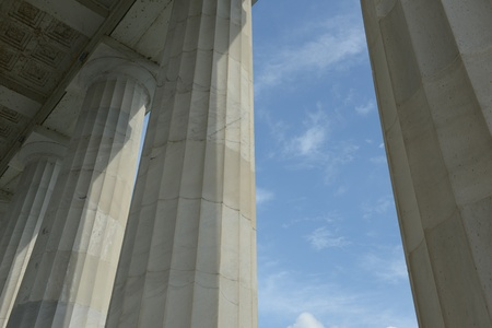 Pillars with Blue Sky and Clouds