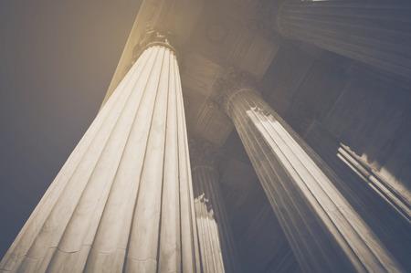 Pillars in Retro Instagram Style
