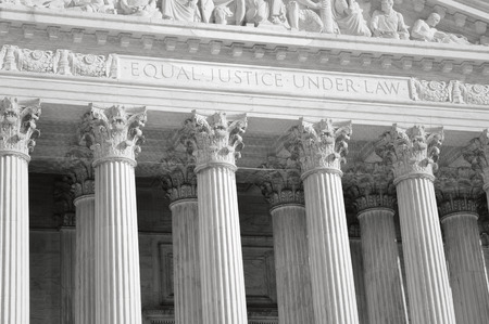 United States Supreme Court Pillars of Justice and Law with Retro