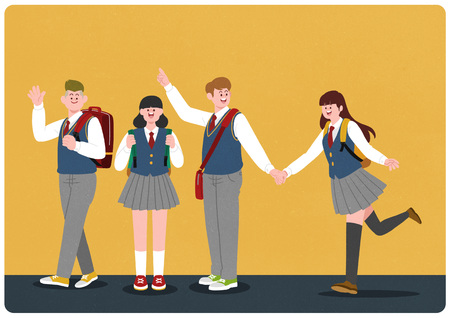 Illustration pour middle school student illustration - image libre de droit